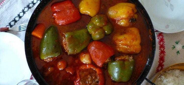 Фаршированный перец - рецепт приготовления